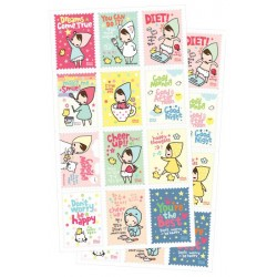 Mariffe Postage Stamp Stickers