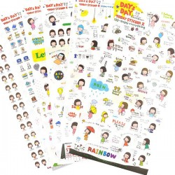Set Stickers Day & Day Planner
