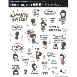 Here & There Removable Stickers Set