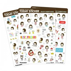 Set Stickers Day & Day Today