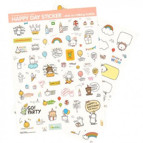 Set Stickers Happy Day