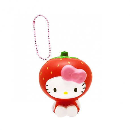 Hello Kitty Fruits Market Strawberry Squishy