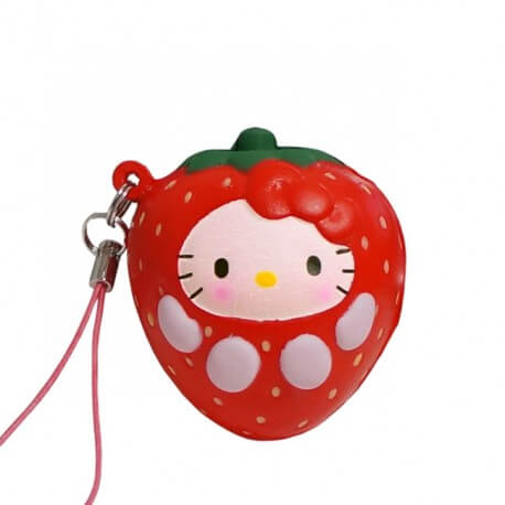 Hello Kitty Strawberry Squishy