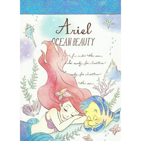 Ariel Ocean Beauty Mini Memo Pad