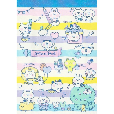 Animal Land Stripes Memo Pad