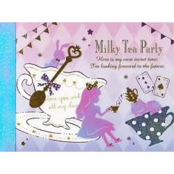 Mini Bloco Notas Milky Tea Party