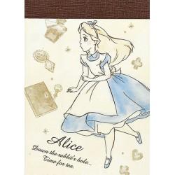 Mini Bloco Notas Alice Tea Time