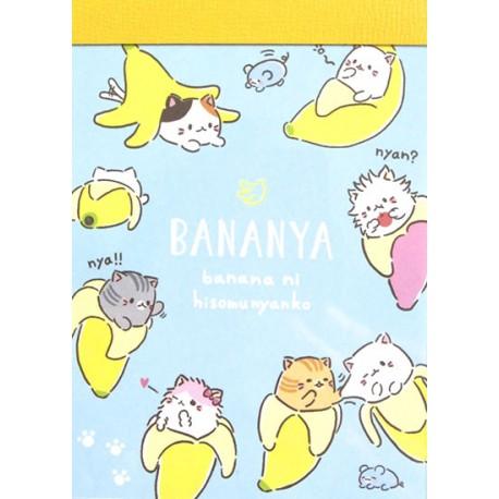 Mini Bloco Notas Bananya Meow
