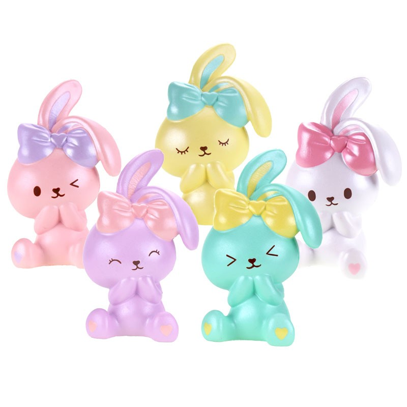 Squishy Squooshems Bunny : Sweet Bunny Pearlized Squishy - Kawaii Panda - Making Life Cuter