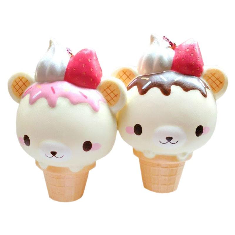 Squishy Yummiibear : YummiiBear Jumbo Ice Cream Cone Squishy - Kawaii Panda - Making Life Cuter