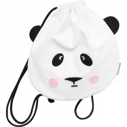 Panda Love Drawstring Bag