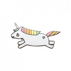 Unicorn Hopping Enamel Pin