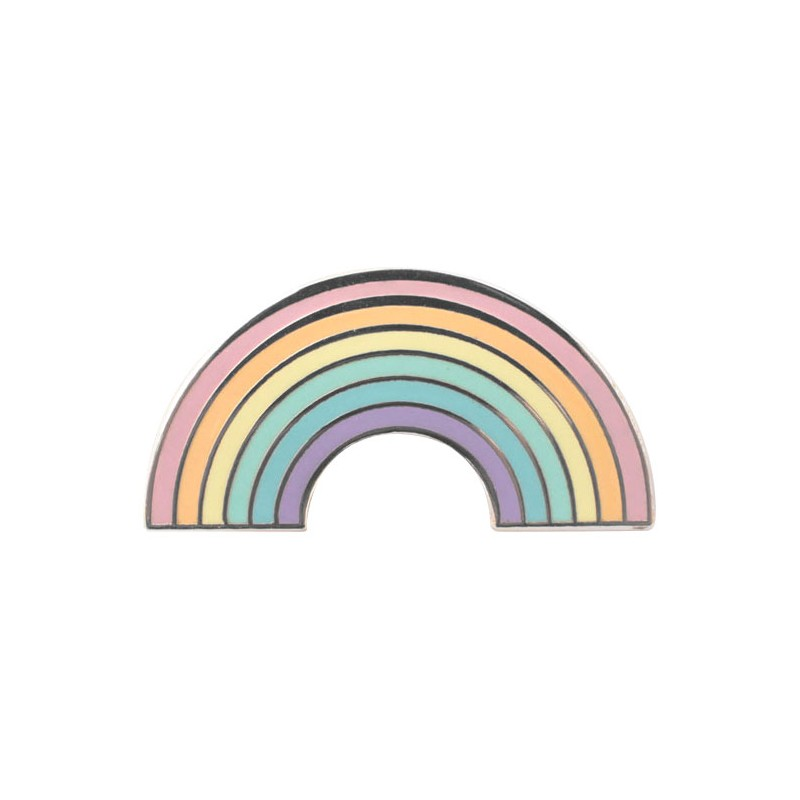 pastel rainbow enamel pin - kawaii panda