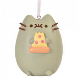 Pusheen I Love Pizza Ornament