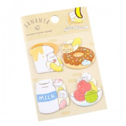 Bananya Food Sticky Notes