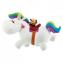Pummel Unicorn Riding Mini Figure