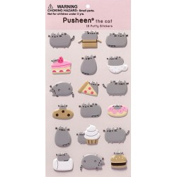 Pusheen Food Puffy Stickers