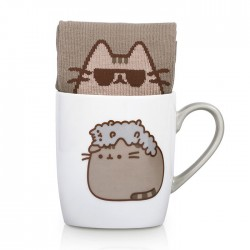 Pusheen Stormy Sock in a Mug Gift Set