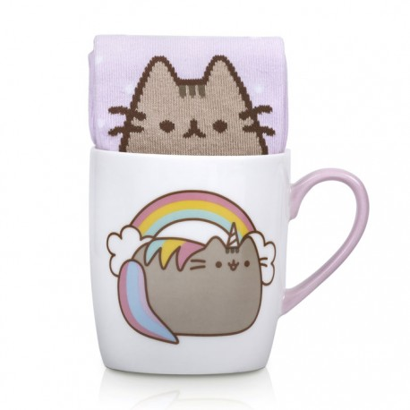 Pusheenicorn Sock in a Mug Gift Set