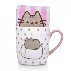 Pusheen Marshmallow Sock in a Mug Gift Set