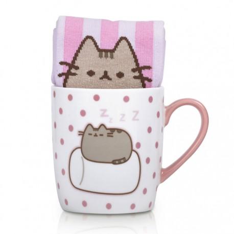 Pusheen Marshmallow Sock in a Mug Gift Set