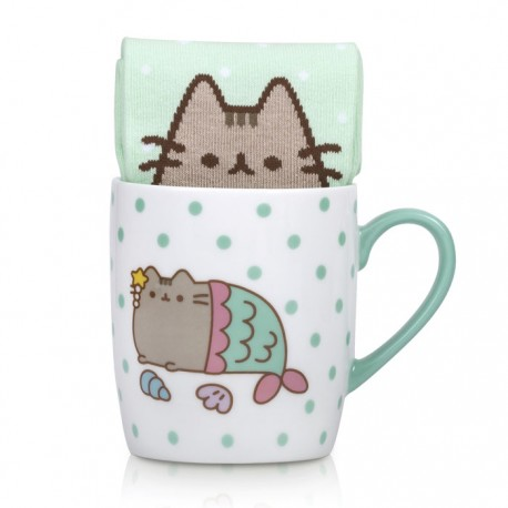 Pusheen Mermaid Sock in a Mug Gift Set