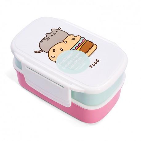 Pusheen Double Layer Bento Box