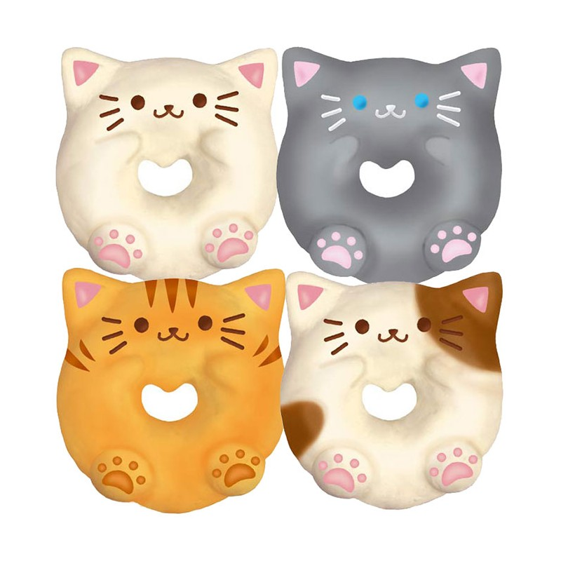 Squishy Donuts Kawaii : Kitty Donut Squishy - Kawaii Panda - Making Life Cuter