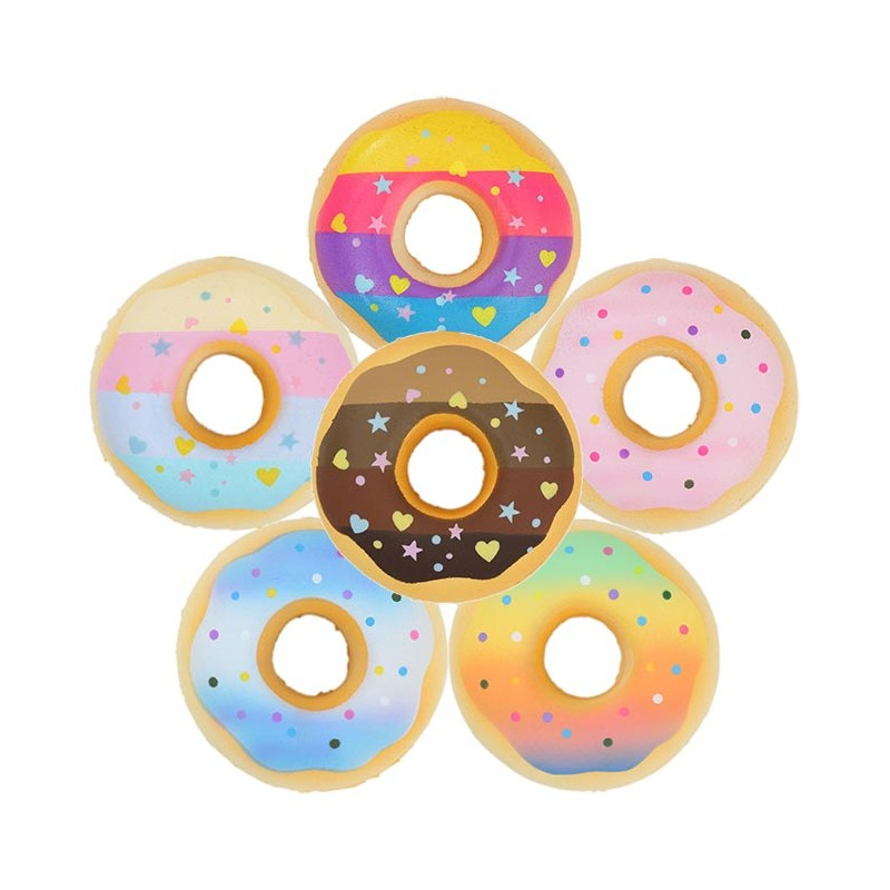 Squishy Donuts Kawaii : Colorful Icing Donut Squishy - Kawaii Panda - Making Life Cuter