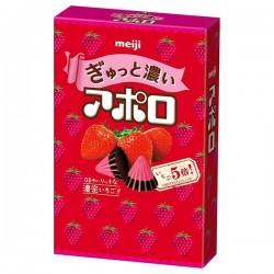 Apollo Rich Strawberry Chocolate Cones