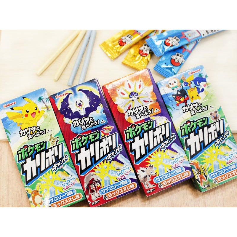 pokémon karipori candy sticks soda fruit mix kawaii panda