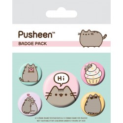 Pusheen Button Badges Hi Set