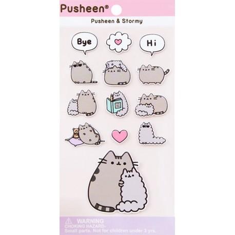 Pusheen & Stormy Puffy Stickers