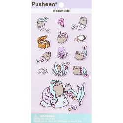 Pusheen Meowmaids Puffy Stickers