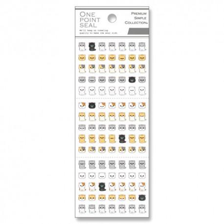 One Point Seal Neko Stickers
