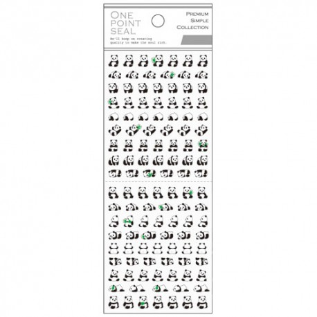 One Point Seal Pandas Stickers