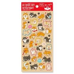 Nonki Nakama Shiba Stickers
