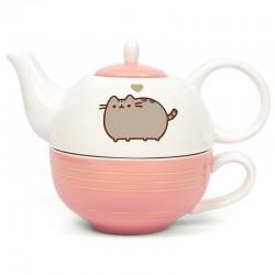 Pusheen Tea For One Gold Teapot & Mug Set