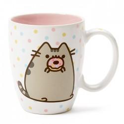 Pusheen Polka Dot Donut Mug