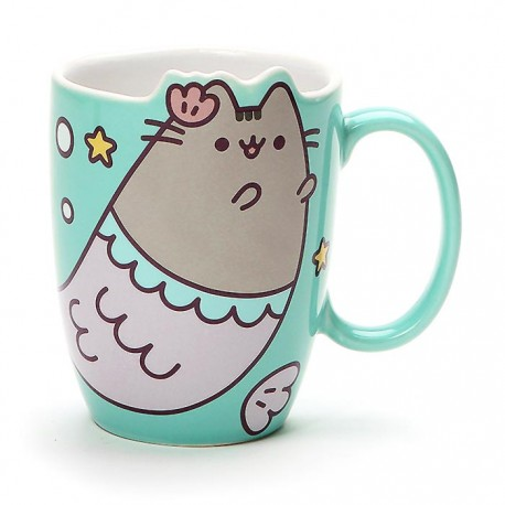 Pusheen Mermaid Die-Cut Mug