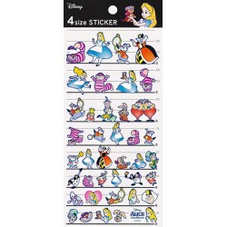 Alice in Wonderland 4 Size Stickers