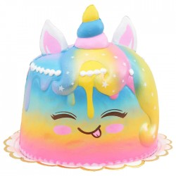 Squishy Rainbow Unicorn Cake