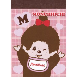 Mini Bloco Notas Monchhichi Girl