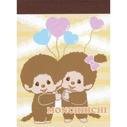 Mini Bloco Notas Monchhichi Boy & Girl Balloons