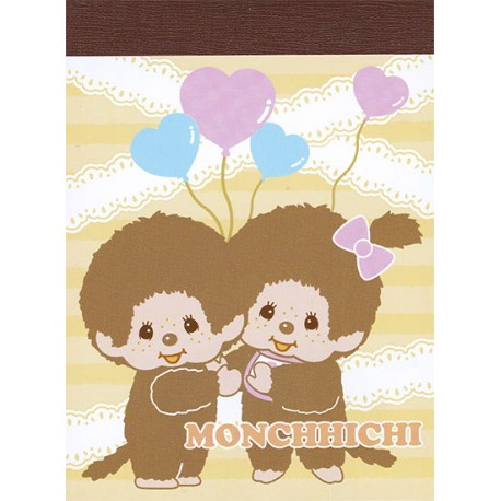 Mini Bloc Notas Monchhichi Boy & Girl Balloons