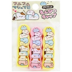 Animal Marshmallows Pencil Caps