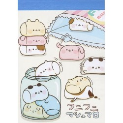 Marshmallow Animals Cookie Jar Mini Memo Pad