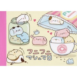 Animal Marshmallows Teacup Mini Memo Pad