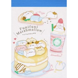Marshmallow Animals Pancake Mini Memo Pad
