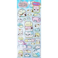 Animal Marshmallows Puffy Stickers